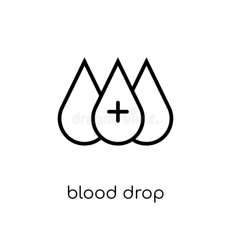 Εικονίδιο πτώσης αίματος Καθιερώνον τη μόδα σύγχρονο επίπεδο γραμμικό διανυσματικό ico πτώσης αίματος απεικόνιση αποθεμάτων