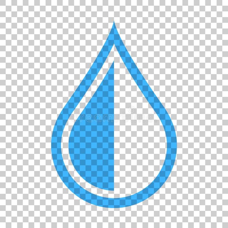 Εικονίδιο πτώσης νερού στο επίπεδο ύφος Διανυσματική απεικόνιση σταγόνων βροχής στο ι διανυσματική απεικόνιση
