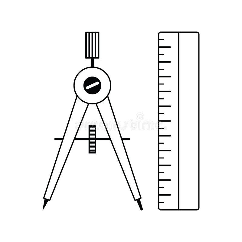 Εικονίδιο πυξίδων διανυσματική απεικόνιση