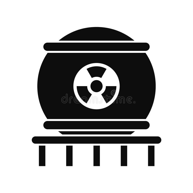Εικονίδιο πυρηνικής ενέργειας, απλό ύφος ελεύθερη απεικόνιση δικαιώματος