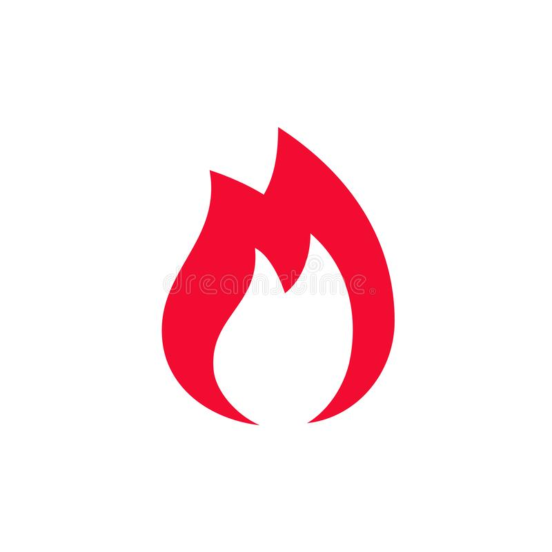 Εικονίδιο πυρκαγιάς, διάνυσμα ελεύθερη απεικόνιση δικαιώματος