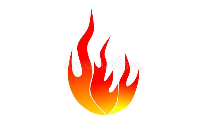 Εικονίδιο πυρκαγιάς στοκ εικόνα