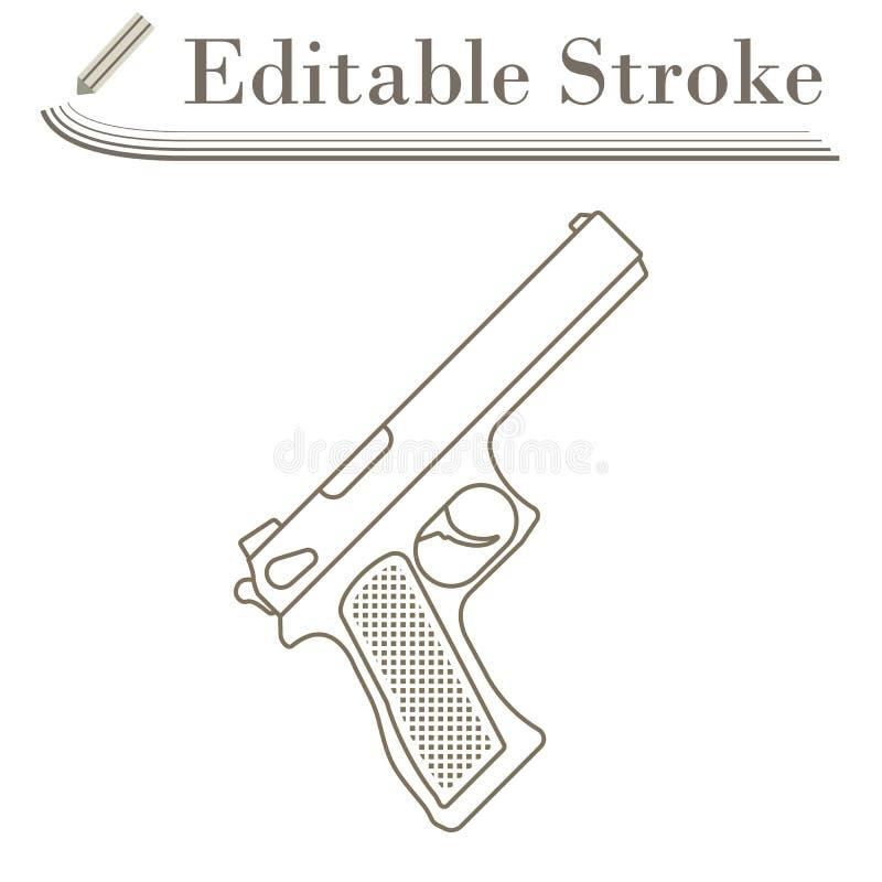 Εικονίδιο πυροβόλων όπλων απεικόνιση αποθεμάτων