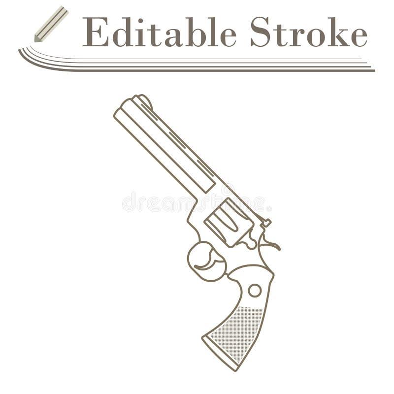 Εικονίδιο πυροβόλων όπλων περίστροφων ελεύθερη απεικόνιση δικαιώματος