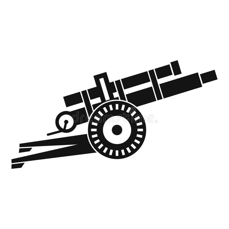 Εικονίδιο πυροβόλων όπλων πυροβολικού, απλό ύφος απεικόνιση αποθεμάτων