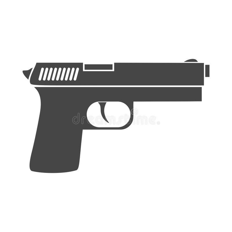 Εικονίδιο πυροβόλων όπλων διανυσματική απεικόνιση