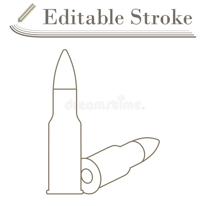 Εικονίδιο πυρομαχικών τουφεκιών απεικόνιση αποθεμάτων