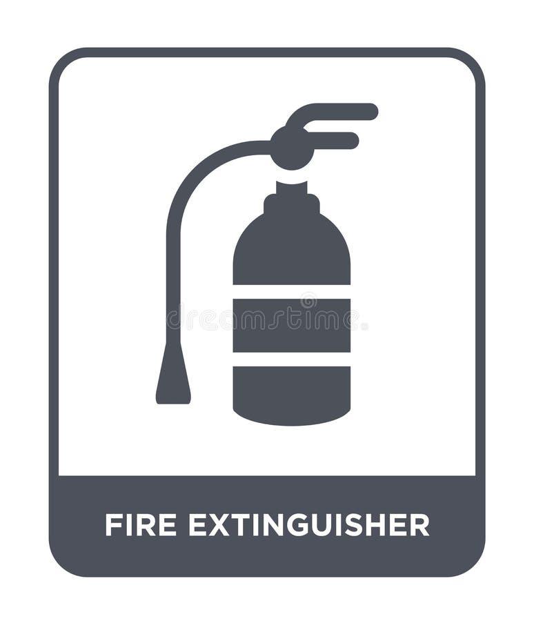 εικονίδιο πυροσβεστήρων στο καθιερώνον τη μόδα ύφος σχεδίου Εικονίδιο πυροσβεστήρων που απομονώνεται στο άσπρο υπόβαθρο Διανυσματ διανυσματική απεικόνιση
