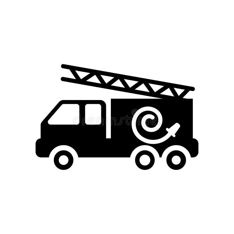 Εικονίδιο πυροσβεστικών οχημάτων  διανυσματική απεικόνιση