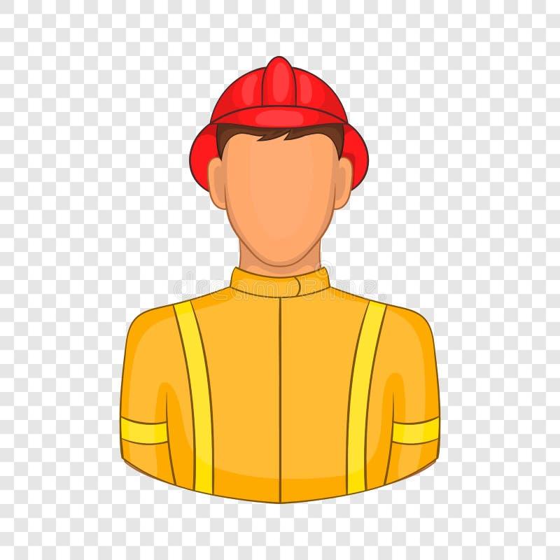 Εικονίδιο πυροσβεστών στο ύφος κινούμενων σχεδίων ελεύθερη απεικόνιση δικαιώματος