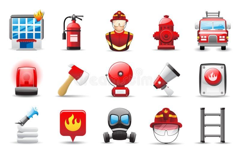 Εικονίδιο πυροσβεστών απεικόνιση αποθεμάτων
