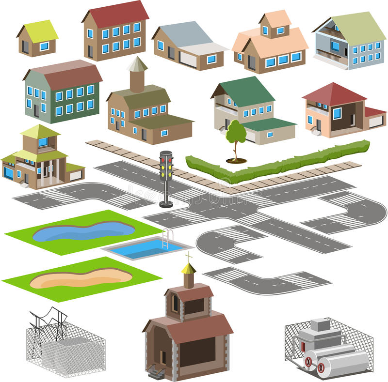 Εικονίδιο πόλεων διανυσματική απεικόνιση
