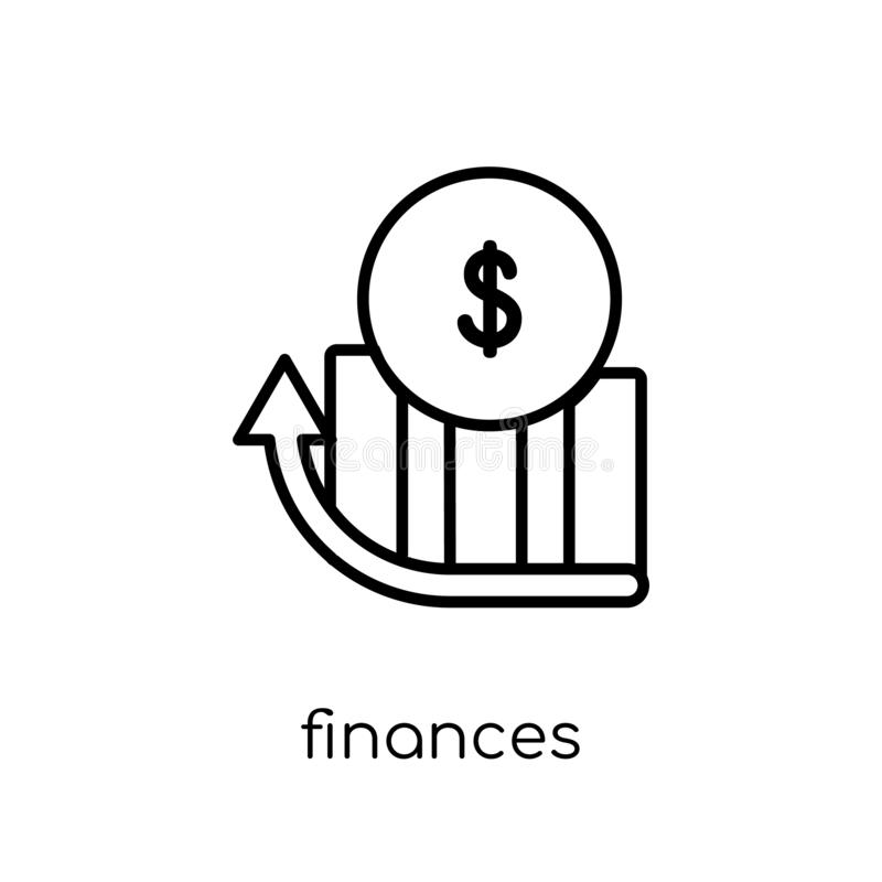 Εικονίδιο πόρων χρηματοδότησης Καθιερώνον τη μόδα σύγχρονο επίπεδο γραμμικό διανυσματικό εικονίδιο πόρων χρηματοδότησης επάνω ελεύθερη απεικόνιση δικαιώματος