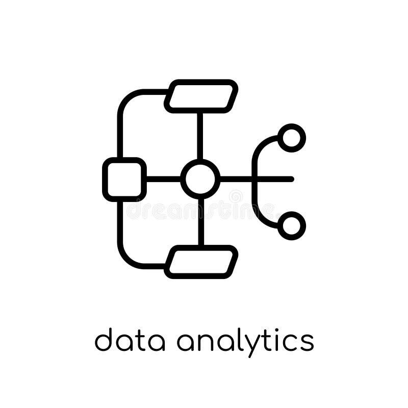 Εικονίδιο ροής analytics στοιχείων Καθιερώνοντα τη μόδα σύγχρονα επίπεδα γραμμικά διανυσματικά στοιχεία ελεύθερη απεικόνιση δικαιώματος