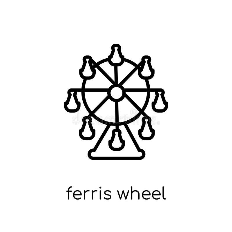 Εικονίδιο ροδών Ferris από τη συλλογή ψυχαγωγίας ελεύθερη απεικόνιση δικαιώματος