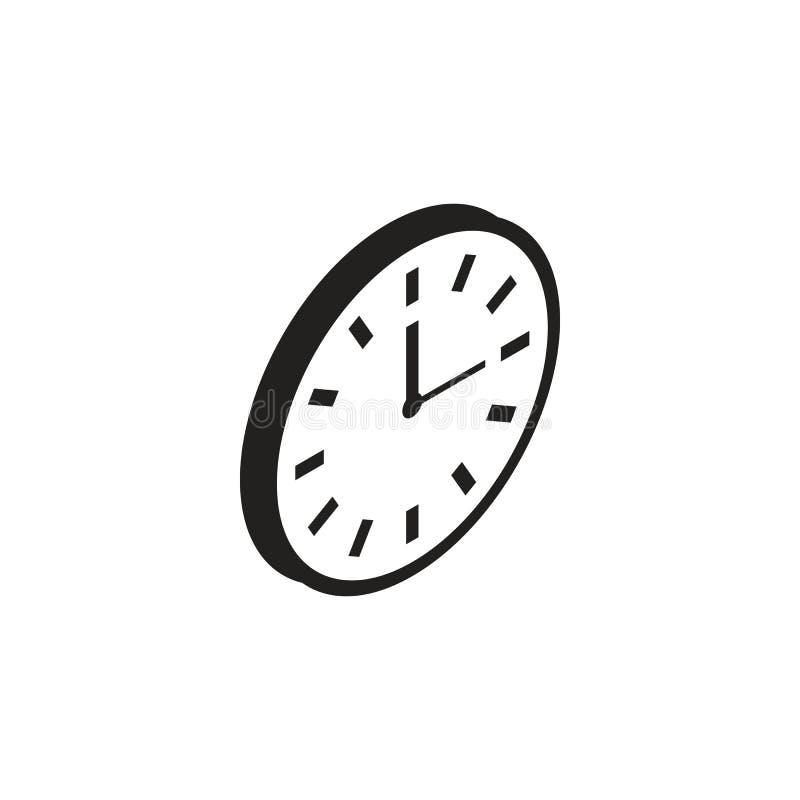 Εικονίδιο ρολογιών τοίχων διανυσματική απεικόνιση