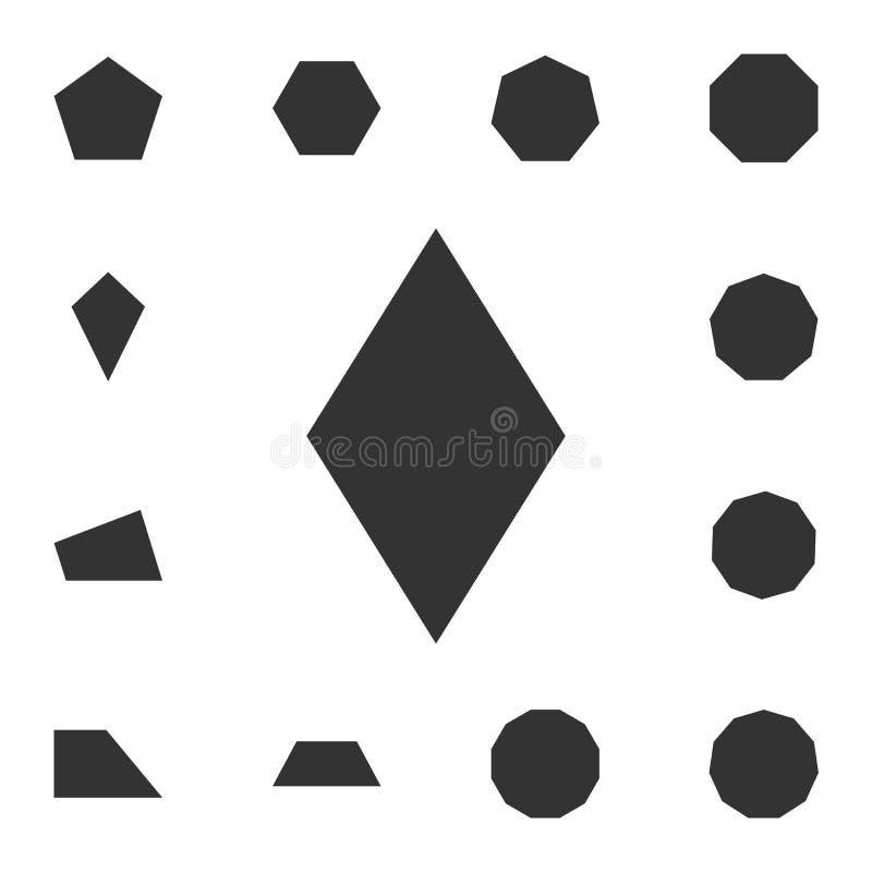 Εικονίδιο ρόμβων Λεπτομερές σύνολο γεωμετρικού αριθμού Γραφικό σχέδιο ασφαλίστρου Ένα από τα εικονίδια συλλογής για τους ιστοχώρο ελεύθερη απεικόνιση δικαιώματος