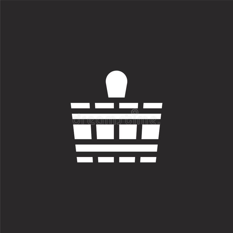 εικονίδιο σαουνών Γεμισμένο εικονίδιο σαουνών για το σχέδιο ιστοχώρου και κινητός, app ανάπτυξη εικονίδιο σαουνών από το γεμισμέν ελεύθερη απεικόνιση δικαιώματος