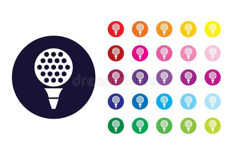 Εικονίδιο σημαδιών γκολφ Σύμβολο χρώματος γκολφ διανυσματική απεικόνιση