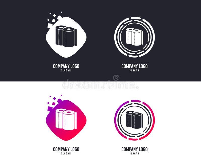 Εικονίδιο σημαδιών πετσετών εγγράφου Σύμβολο ρόλων κουζινών διάνυσμα απεικόνιση αποθεμάτων