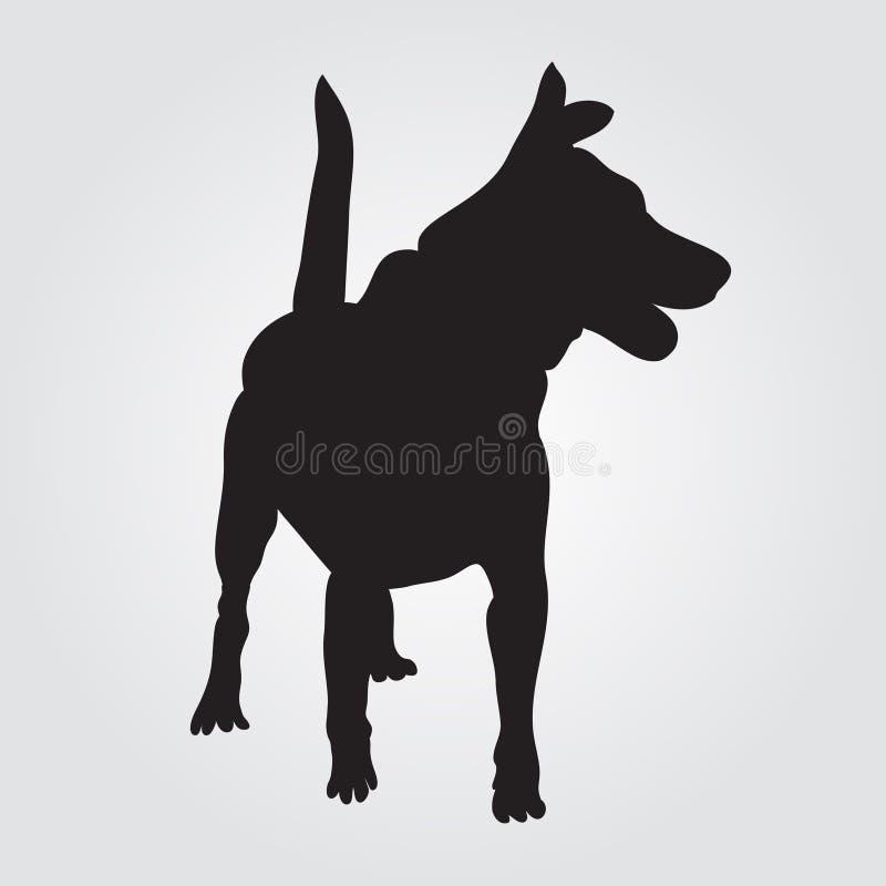 Εικονίδιο σημαδιών σκυλιών Σύμβολο κατοικίδιων ζώων απεικόνιση αποθεμάτων