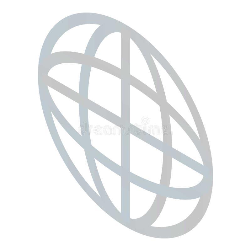 Εικονίδιο σημαδιών σφαιρών, isometric ύφος ελεύθερη απεικόνιση δικαιώματος