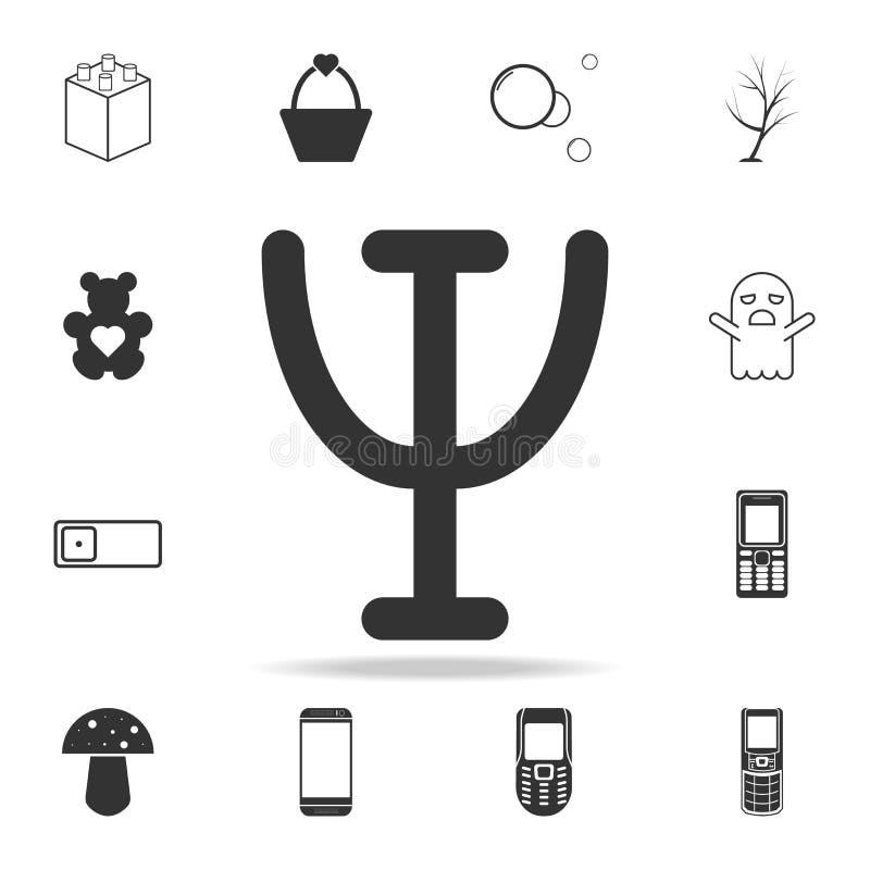 Εικονίδιο σημαδιών PSI Λεπτομερές σύνολο εικονιδίων και σημαδιών Ιστού Γραφικό σχέδιο ασφαλίστρου Ένα από τα εικονίδια συλλογής γ διανυσματική απεικόνιση