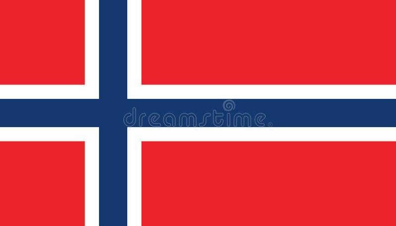 Εικονίδιο σημαιών της Νορβηγίας στο επίπεδο ύφος Εθνική διανυσματική απεικόνιση σημαδιών Πολιτική επιχειρησιακή έννοια διανυσματική απεικόνιση
