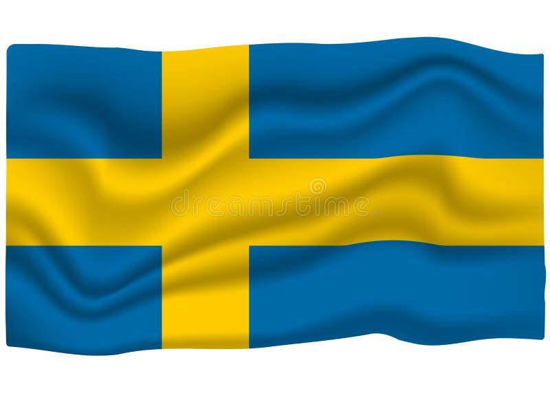 Εικονίδιο σημαιών της Σουηδίας Έμβλημα εθνικών σημαιών r απεικόνιση αποθεμάτων
