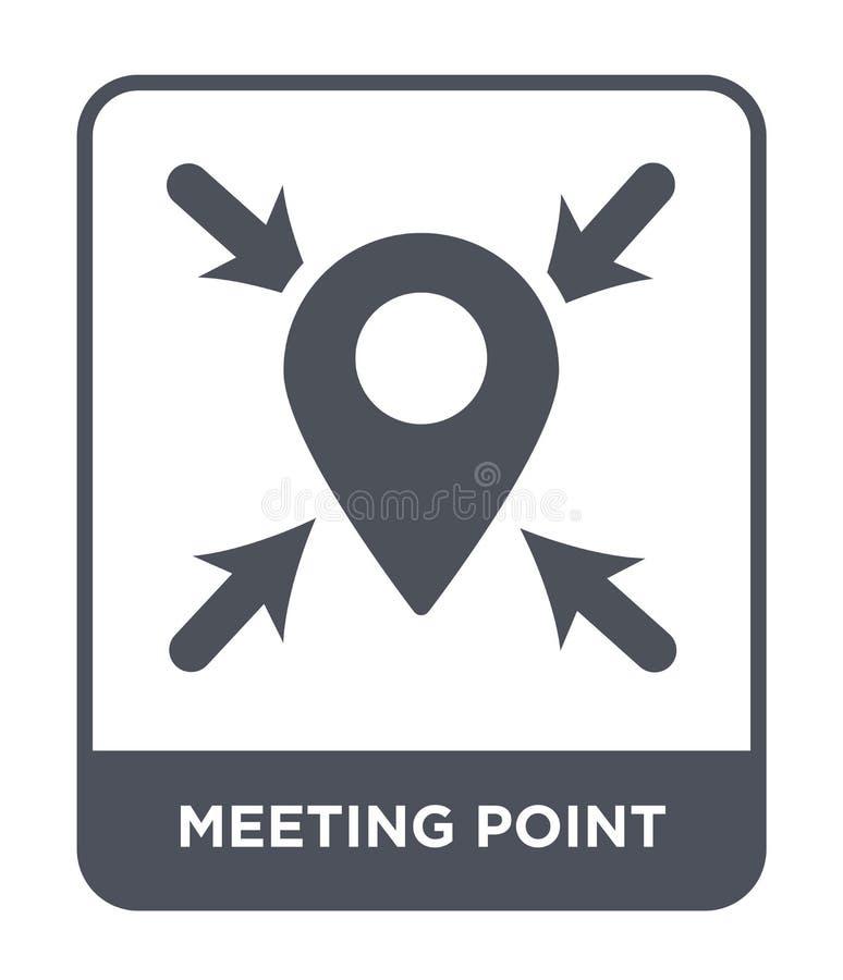εικονίδιο σημείου συνεδρίασης στο καθιερώνον τη μόδα ύφος σχεδίου εικονίδιο σημείου συνεδρίασης που απομονώνεται στο άσπρο υπόβαθ διανυσματική απεικόνιση