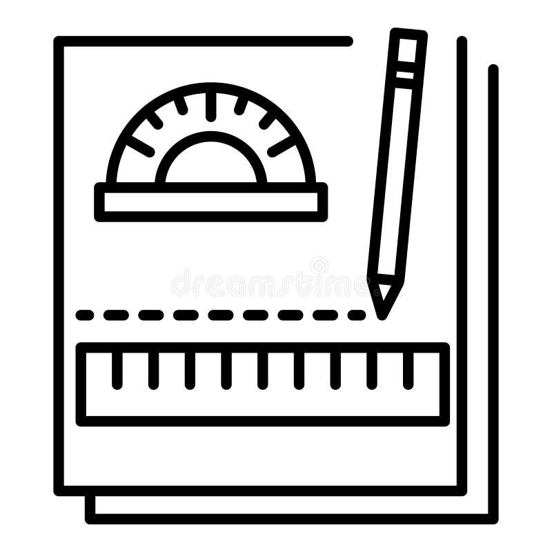 Εικονίδιο σημειωματάριων εργασίας, ύφος περιλήψεων ελεύθερη απεικόνιση δικαιώματος
