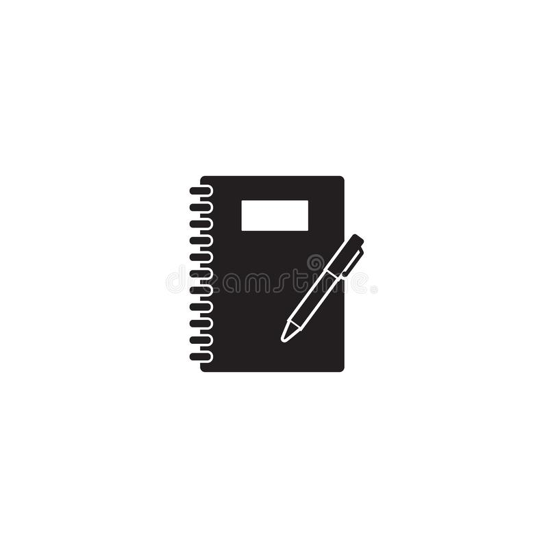 Εικονίδιο σημειωματάριων στο λευκό ελεύθερη απεικόνιση δικαιώματος