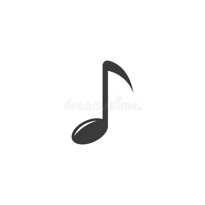Εικονίδιο σημειώσεων μουσικής ελεύθερη απεικόνιση δικαιώματος