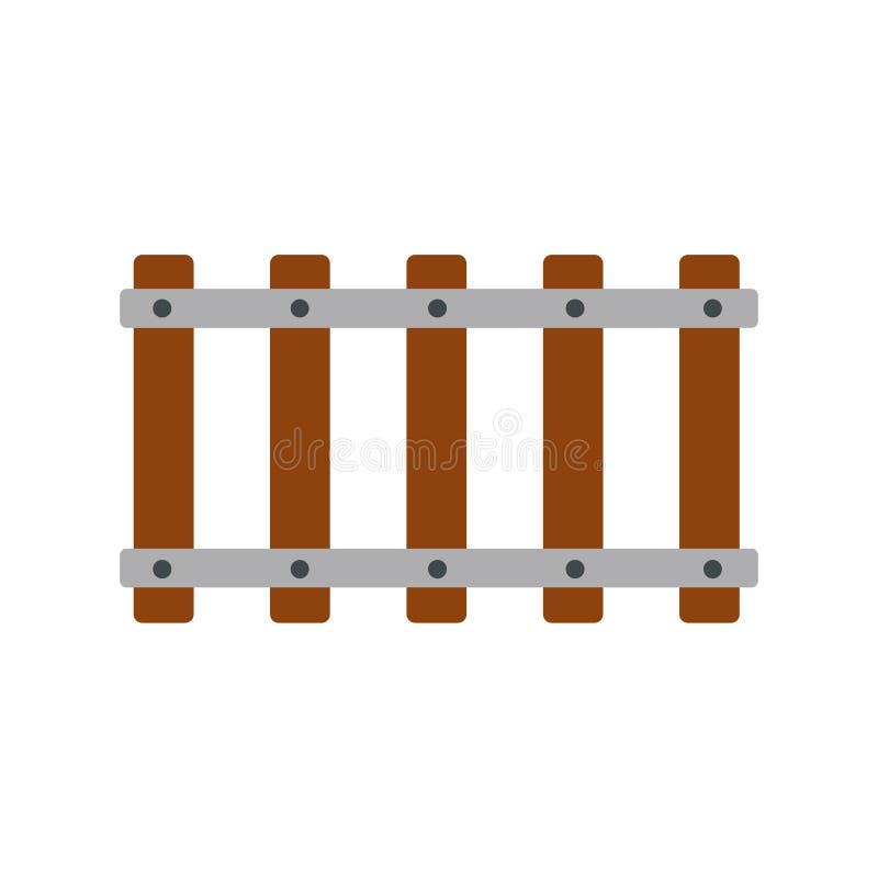 Εικονίδιο σιδηροδρόμου επίπεδο απεικόνιση αποθεμάτων