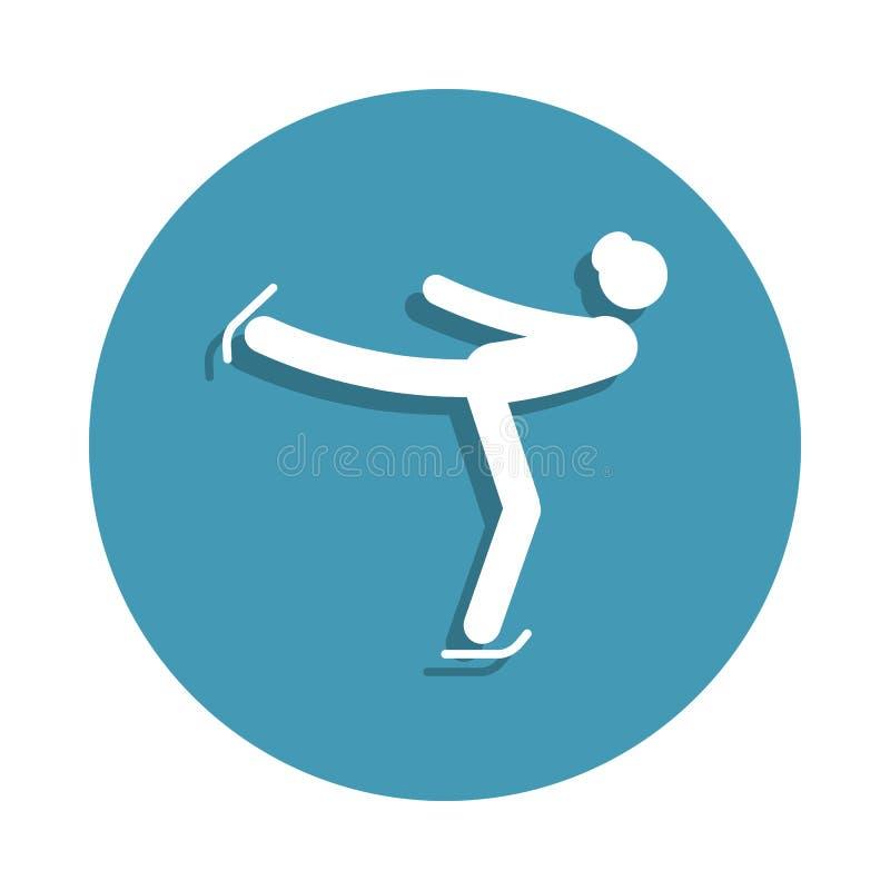 Εικονίδιο σκέιτερ αριθμού γυναικών σκιαγραφιών στο ύφος διακριτικών Ένα από το εικονίδιο συλλογής χειμερινού αθλητισμού μπορεί να ελεύθερη απεικόνιση δικαιώματος
