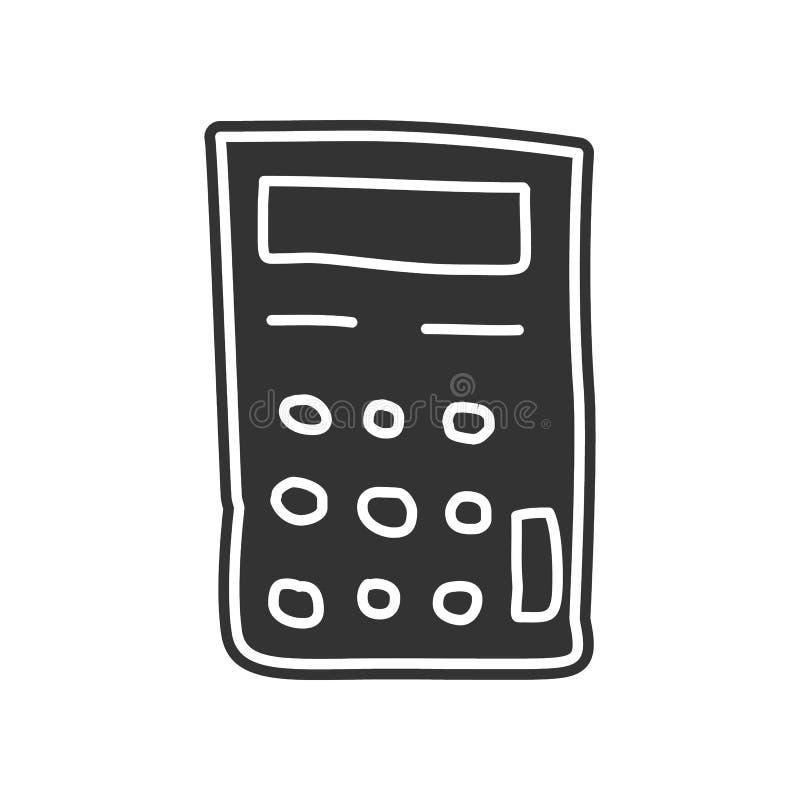 Εικονίδιο σκίτσων υπολογιστών Στοιχείο της εκπαίδευσης για το κινητό εικονίδιο έννοιας και Ιστού apps Glyph, επίπεδο εικονίδιο γι ελεύθερη απεικόνιση δικαιώματος