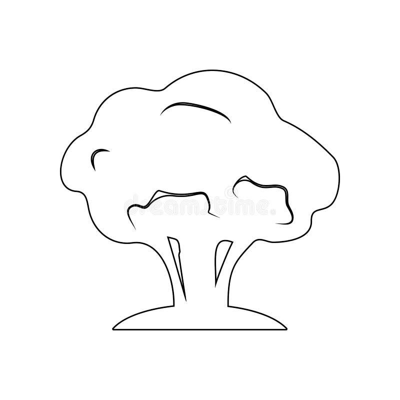 εικονίδιο σκιαγραφιών δέντρων Στοιχείο του κήπου για το κινητό εικονίδιο έννοιας και Ιστού apps r διανυσματική απεικόνιση