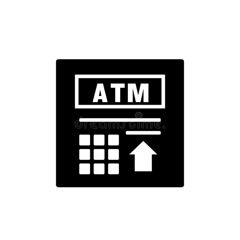 Εικονίδιο σκιαγραφιών του ATM διανυσματική απεικόνιση