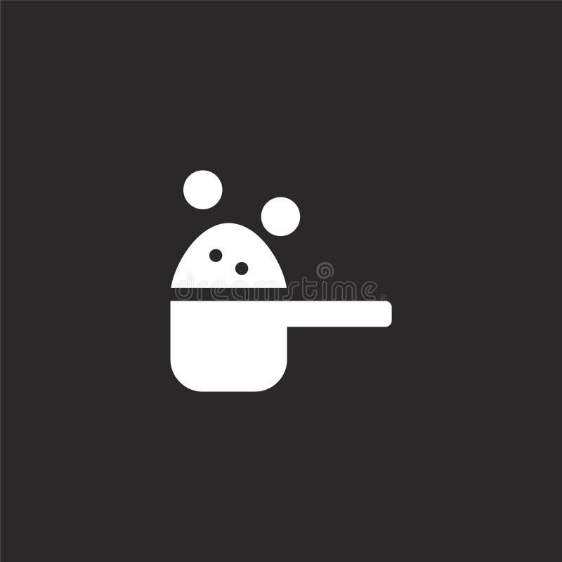 εικονίδιο σκονών πλύσης Γεμισμένο εικονίδιο σκονών πλύσης για το σχέδιο ιστοχώρου και κινητός, app ανάπτυξη εικονίδιο σκονών πλύσ απεικόνιση αποθεμάτων