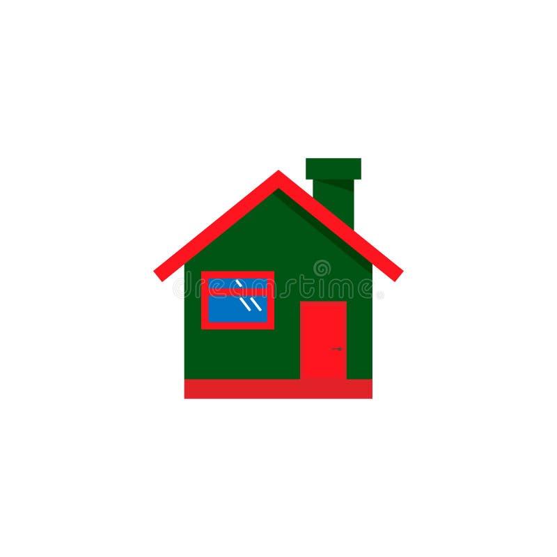 Εικονίδιο σπιτιών Απλό επίπεδο σύμβολο Εικονόγραμμα απεικόνισης στο άσπρο υπόβαθρο διάνυσμα απεικόνιση αποθεμάτων
