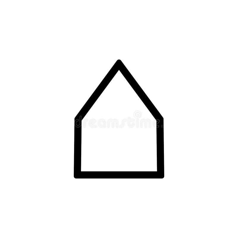 Εικονίδιο σπιτιών Το διανυσματικό ύφος απεικόνισης είναι επίπεδο εικονικό σύμβολο, μαύρο χρώμα, διαφανές υπόβαθρο Σχεδιασμένος γι διανυσματική απεικόνιση