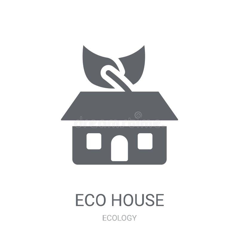 Εικονίδιο σπιτιών Eco  απεικόνιση αποθεμάτων