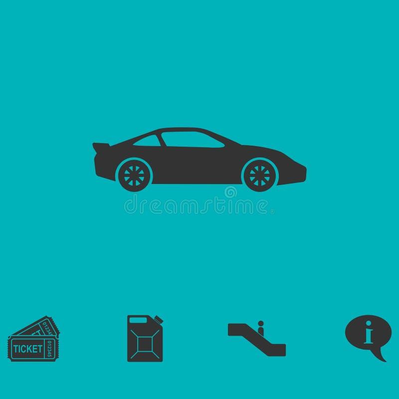 Εικονίδιο σπορ αυτοκίνητο επίπεδο απεικόνιση αποθεμάτων