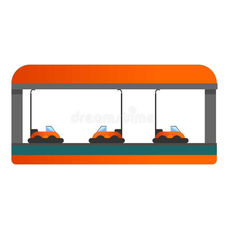 Εικονίδιο στάσεων διασκέδασης αυτοκινήτων, ύφος κινούμενων σχεδίων διανυσματική απεικόνιση