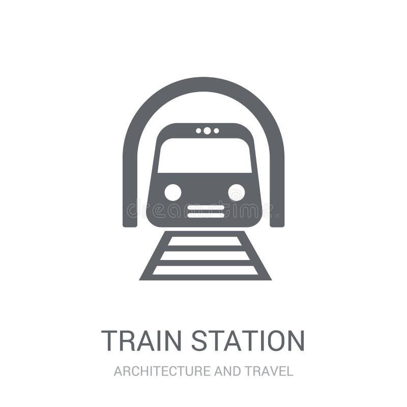 Εικονίδιο σταθμών τρένου  ελεύθερη απεικόνιση δικαιώματος