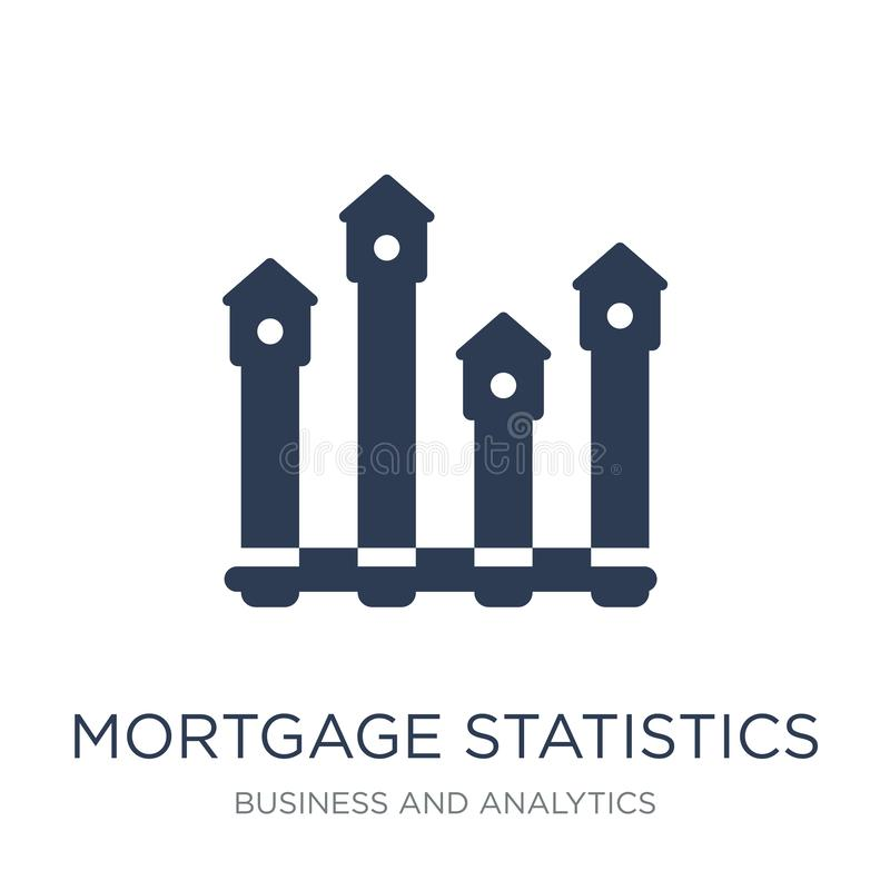 Εικονίδιο στατιστικών υποθηκών Καθιερώνουσες τη μόδα επίπεδες διανυσματικές στατιστικές υποθηκών απεικόνιση αποθεμάτων