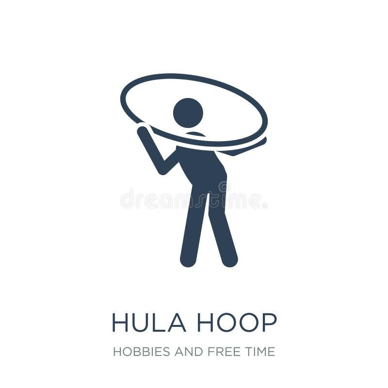 εικονίδιο στεφανών hula στο καθιερώνον τη μόδα ύφος σχεδίου εικονίδιο στεφανών hula που απομονώνεται στο άσπρο υπόβαθρο hula απλό διανυσματική απεικόνιση