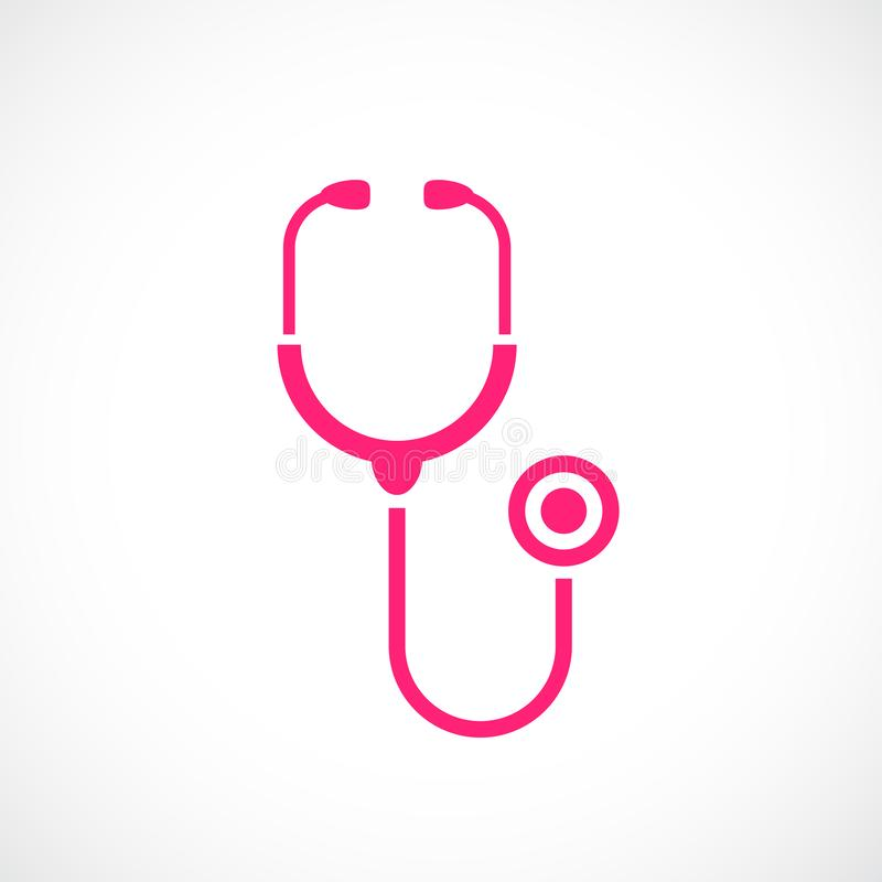 Εικονίδιο στηθοσκοπίων εργαλείων γιατρών ελεύθερη απεικόνιση δικαιώματος
