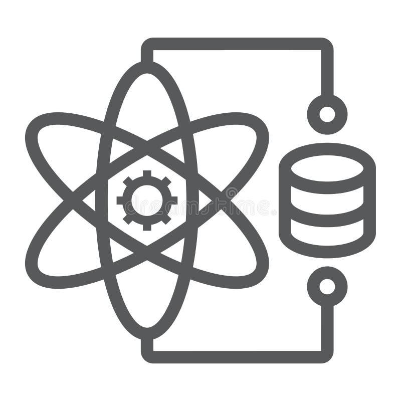 Εικονίδιο, στοιχεία και analytics γραμμών επιστήμης στοιχείων ελεύθερη απεικόνιση δικαιώματος