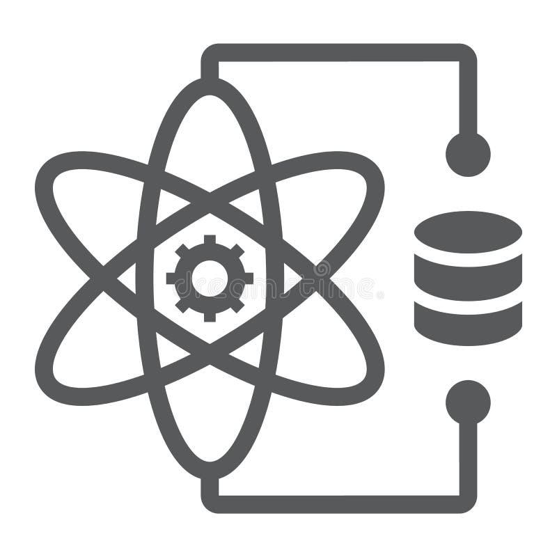 Εικονίδιο, στοιχεία και analytics επιστήμης στοιχείων glyph διανυσματική απεικόνιση